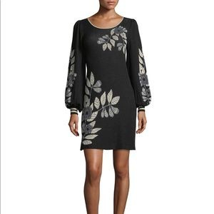 Max Studio floral jacquard sweater dress. Like new